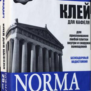 Cухие строительные смеси NORMA